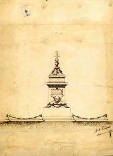Návrh pomníku Vasila Levského s datací 29. července 1878