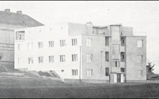 Evžen Linhart, obytný dům v Hostivaři, celkový pohled