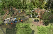 Zábavní park Hradec Králové, soutěžící Unipark s.r.o.; Vítěz veřejného hlasování v kategorii Dřevěné konstrukce – návrhy
