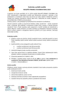 Podmínky soutěže, strana 1