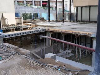 03. Strop suterénu vřídelní haly, první etapa betonáže