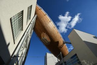 Pohled z vnitřního dvora galerie DOX (foto: René Volfík)