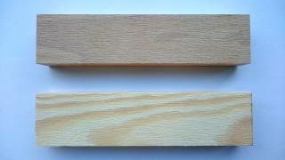Obr. 3 Referenční vzorek buku (nahoře) a borovice (dole)