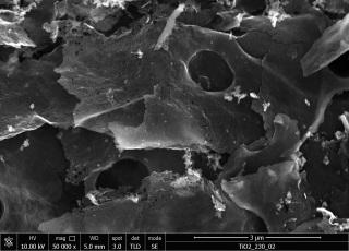 Obr. 6 HRSEM rovinných částic TiO2