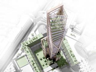 Obr. 3 Vize Oakwood Tower v Londýně