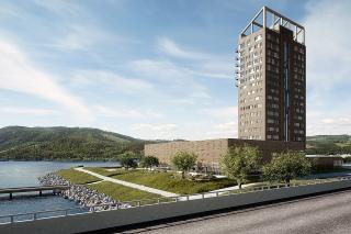 Obr. 4 Budova Mjøstårnet v Norsku