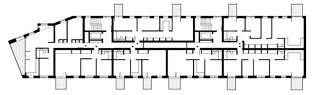 Obr. 09 Bridport House – vyšší patra